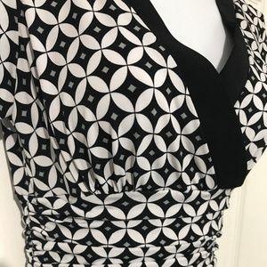 Diamond Pattern V Neck & Back Dress